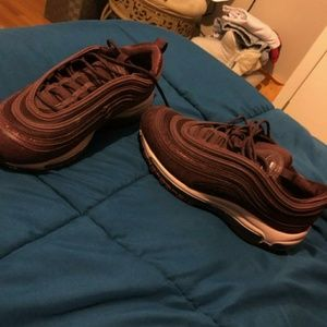 Womens air max 97 burgandy crush